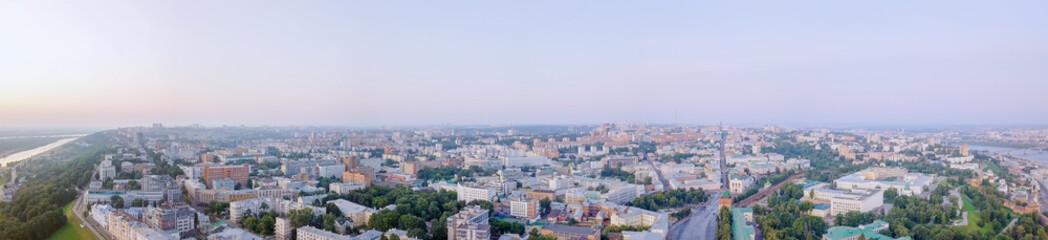 Printed kitchen splashbacks Athens Panorama of the city of Nizhny Novgorod at dawn. Russia