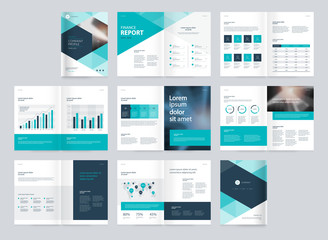 template layout design with cover page for company profile ,annual report , brochures, flyers, presentations, leaflet, magazine,book . and vector a4 scale size for editable. - fototapety na wymiar