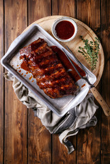 Home made pork ribs