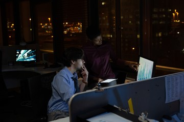 Executives working at desk