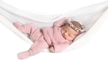 Baby liegt in einer Hängematte