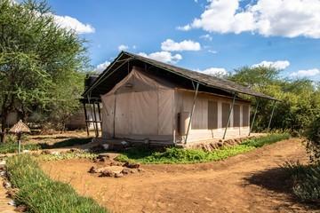 Zeltcamp auf Safari im Amboseli Nationalpark