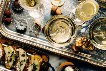 Champagne Cocktails and Hors D'oeuvres