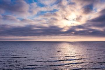 Beautiful landscape of Baltic sea shore. Tranquil scene of Baltic sea.