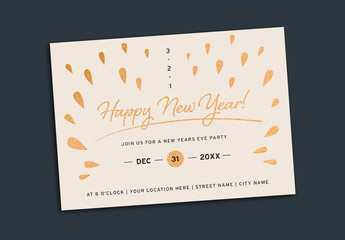 New Years Eve Party Invitation Layout