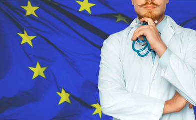 Concept of health and medicine national healthcare system in EU