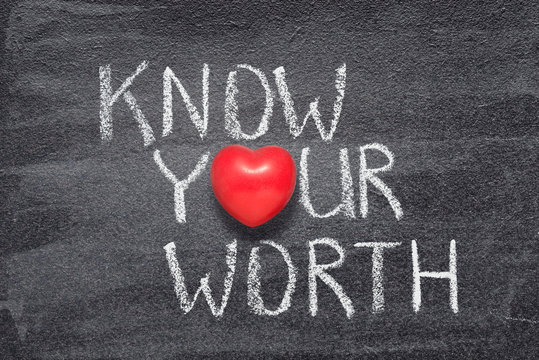 know your worth heart