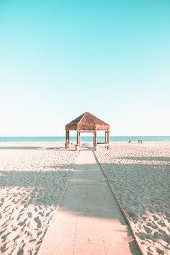 A gazebo at a beach