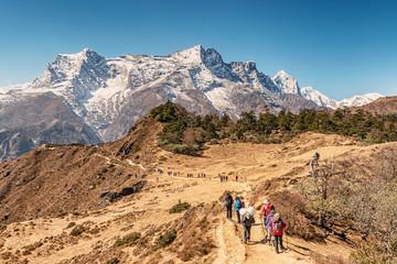 Kongde Ri peak on the trek to Everest base camp in Sagarmatha national park, Nepal