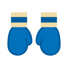 Boxing glove. Boxing glove is blue colour. Vector illustration. EPS 10. Sport.