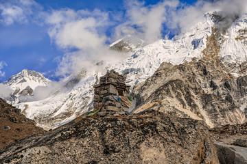 Khumbutse 6639meter peak in Nepal.