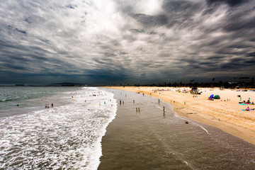 Clouds hovering over the beach