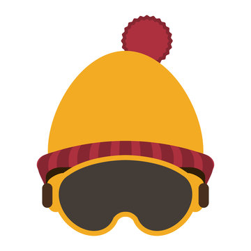 Winter beanie hat and glasses