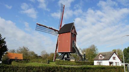 Windmühlen an der holländischen Küste