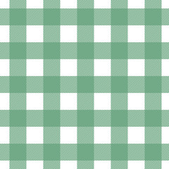 Seamless vector plaid, check pattern green and white. Design for wallpaper, fabric, textile, wrapping. Simple background