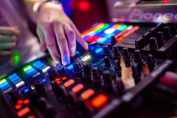 dj mixing music in club