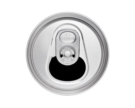 Drinks can top with ring pull, cut out