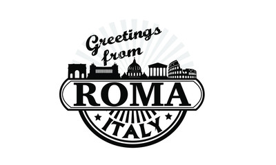 Greetings from rome roma italy
