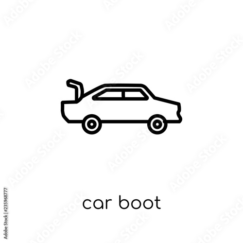 Car Boot Icon From Car Parts Collection Stock Image And Royalty