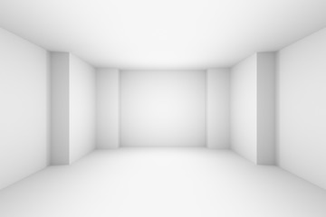 Abstract white empty room, simple illustration