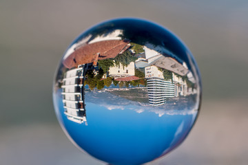 Cityscape in a sphere
