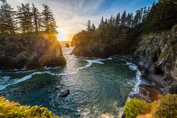 Oregon Coast Sunset - Samuel H Boardman