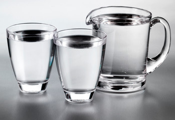 GLASS AND JUG OF STILL WATER