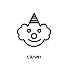 Clown icon from Circus collection.