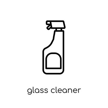 Glass cleaner icon. Trendy modern flat linear vector Glass cleaner icon on white background from thin line Cleaning collection