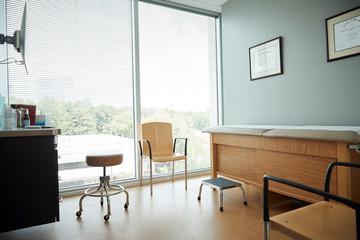 Empty examination room