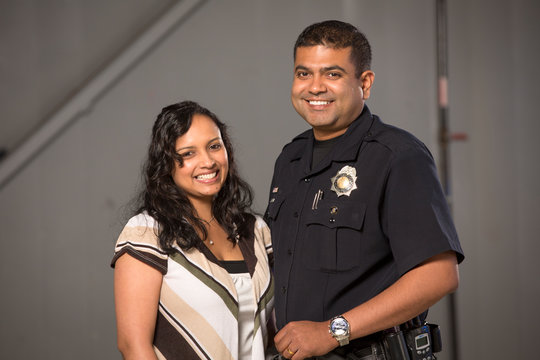 Policeman and his wife