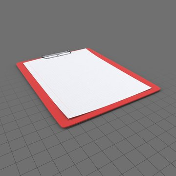 Clipboard with blank graph paper