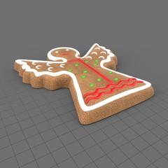 Gingerbread angel cookie