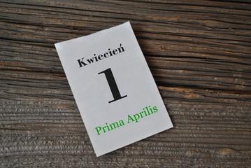 1 kwietnia - Prima Aprilis