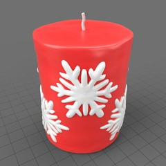 Small Christmas candle