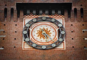Beautiful Sforza Castle of Castello Sforzesco in Milan