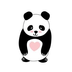 Vector flat illustration with panda