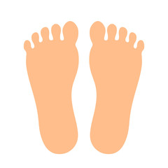 Human feet vector icon