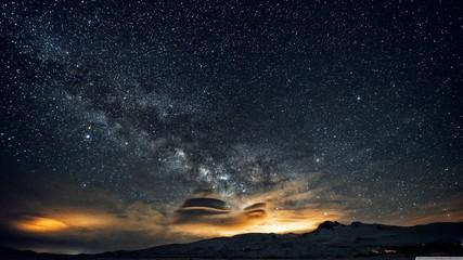 sky night to day