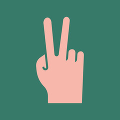 Silhouette icon rude gesture