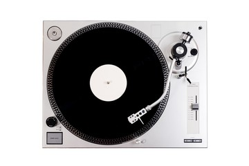 Turntable on a white background