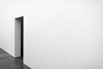 Door in white wall