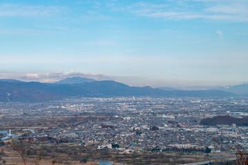 長野県姨捨インターからの眺望