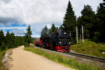 old steam train railway brockenbahn
