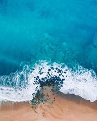 Aerial view of beach coastline