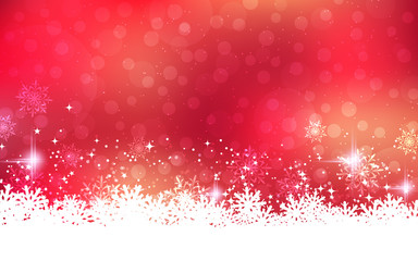 Merry Christmas and Happy New Year vector background with stars and snowflakes