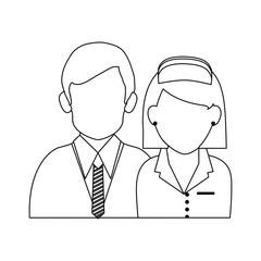 Businessman and nurse avatar