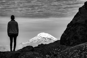 Il bellissimo vulcano Chimborazo, Ecuador