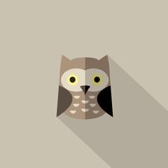 Flat owl icon