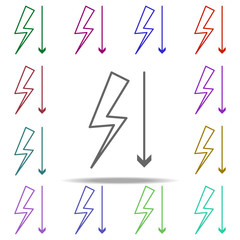 little tension icon. Elements of arrow and object in multi color style icons. Simple icon for websites, web design, mobile app, info graphics